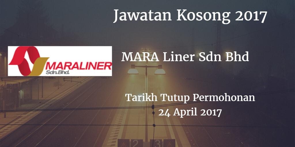 Jawatan Kosong MARA Liner Sdn Bhd 24 April 2017