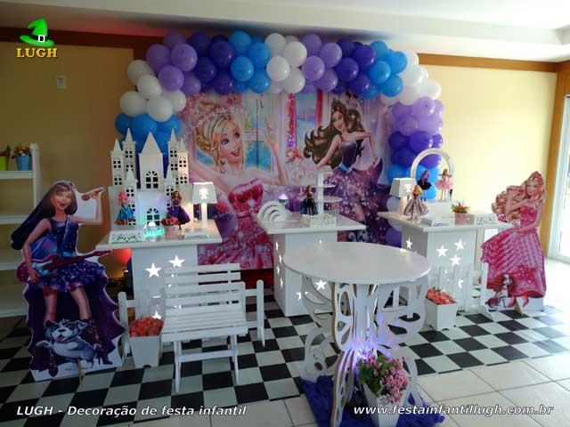 Decoração Barbie Pop Star e a Princesa - Festa de aniversário infantil Barra-RJ -  Provençal simples