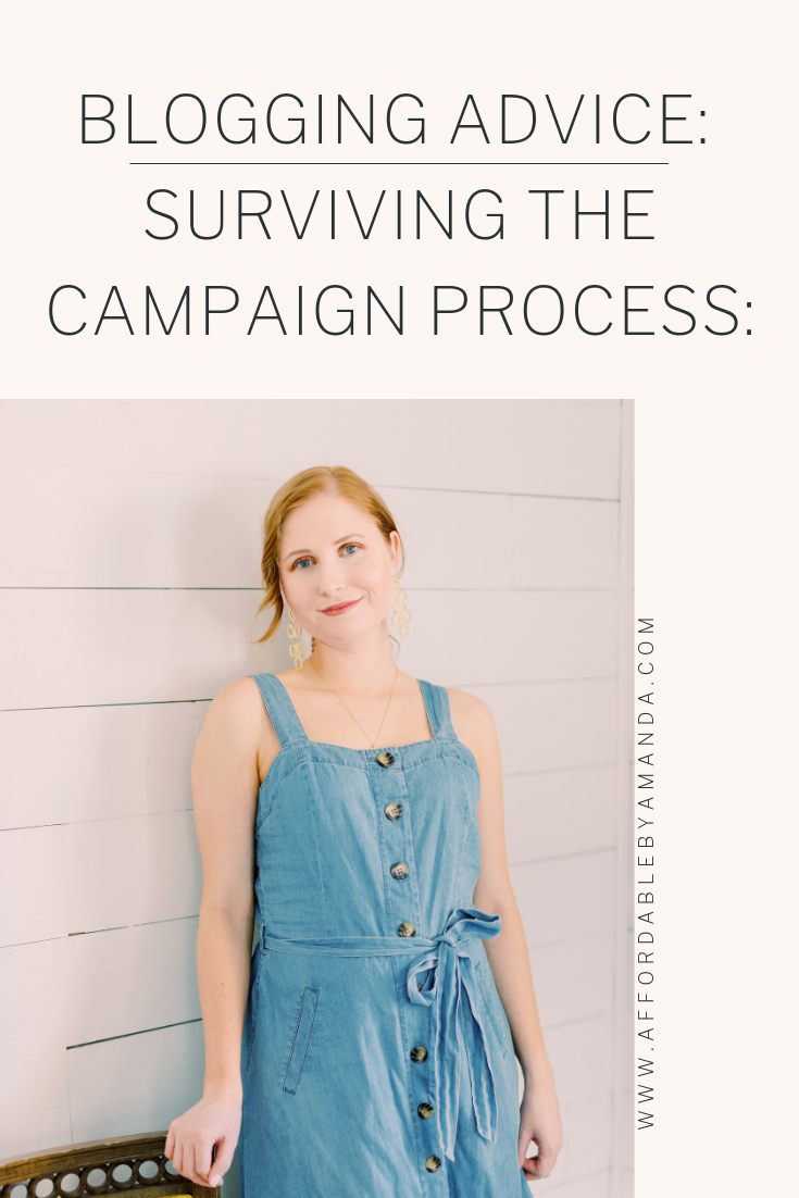 blogging advice how to survive the campaign process with tampa blogger amanda burrows from affordable by amanda wearing a chambray dress from target
