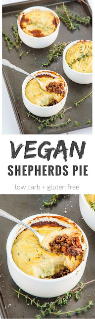 Mushroom and Cauliflower Vegan Shepherds Pie