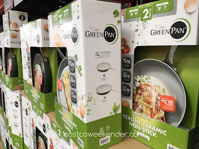Green Pan Healthy Ceramic Non Stick Skillets 2 Piece Set