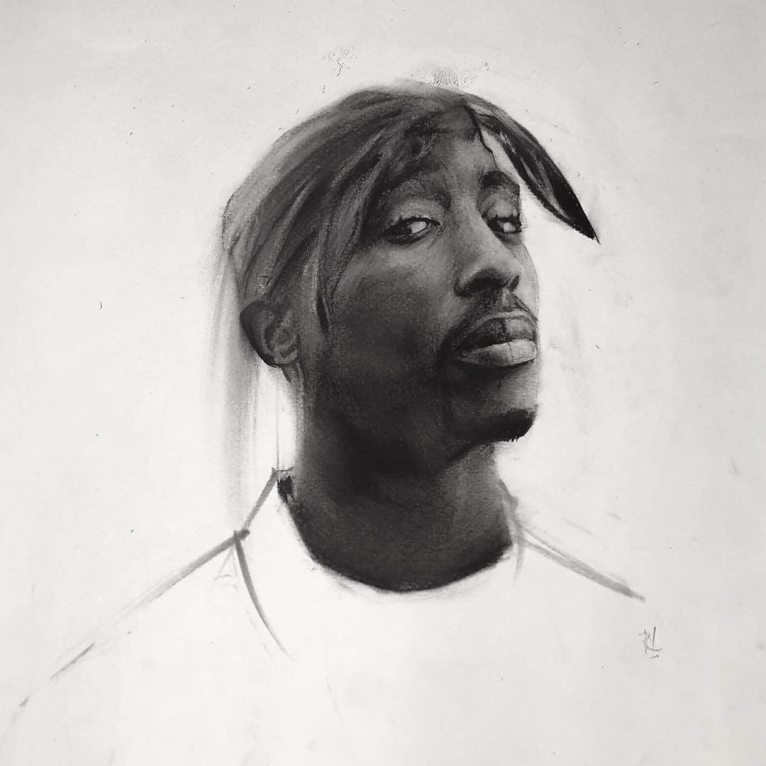 06-Tupac-Shakur-Rick-Young-Celebrity-and-More-Charcoal-Portraits-www-designstack-co