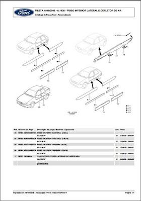 Catálogo de peças Ford Fiesta 96