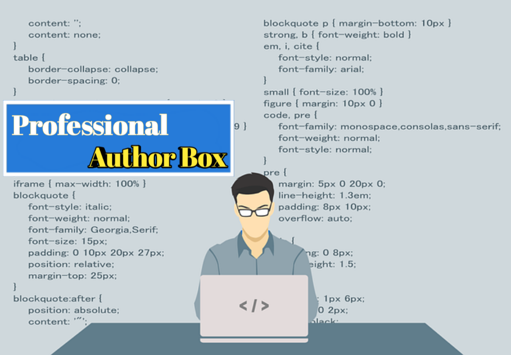 How To Add Professional Author Box in Blogger
