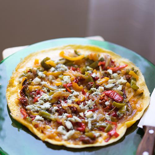 receta de cómo hacer una tortilla de verduras pero de una manera diferente, muy sana y sencilla de hacer.
