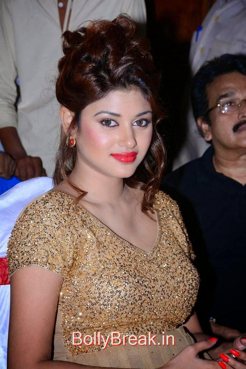 Oviya Pictures, Oviya Hot Pics in golden dress from Sandamarutham Movie