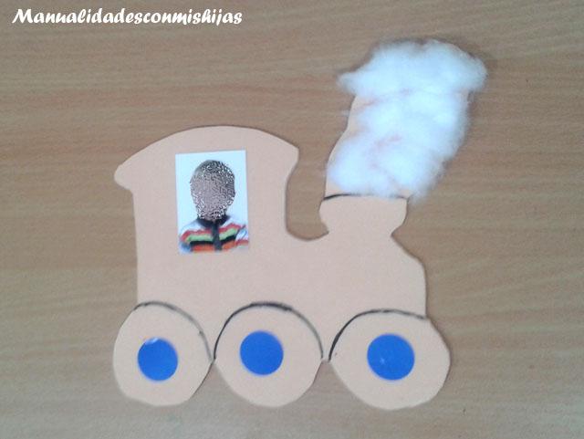 locomotora en foami para regalo dia del padre con foto