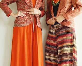 model baju songket silungkang