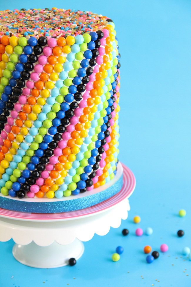 Sixlets Cake For A Blog Birthday And A Giveaway