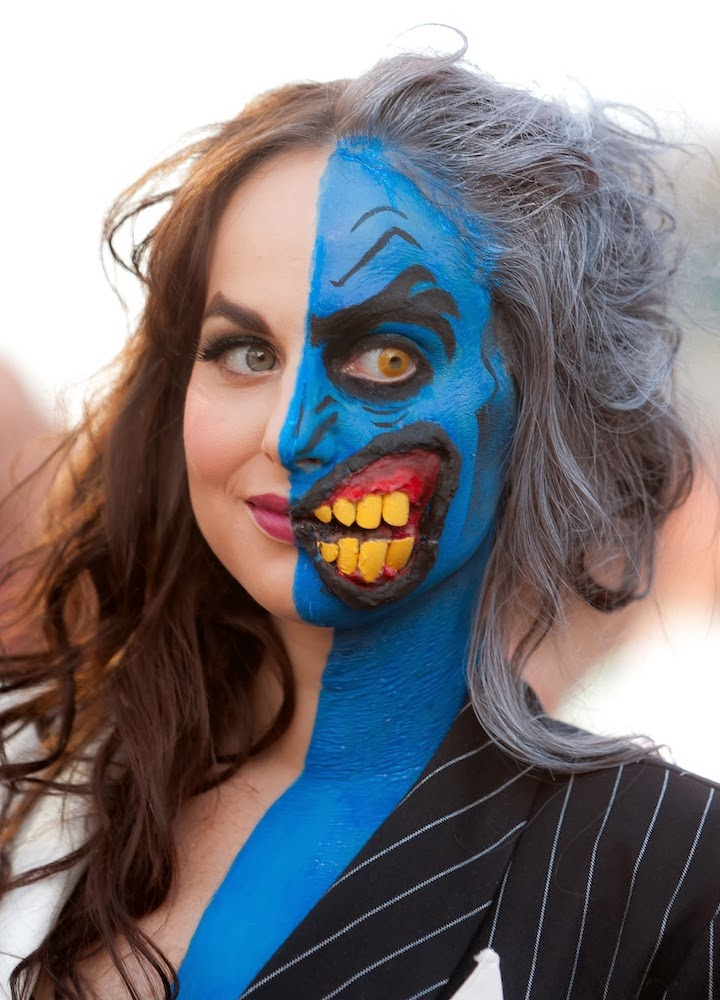 Two Face Feels Lucky In New Batman Arkham City Image: Comic & Illustration Blog: Fun Halloween Makeup