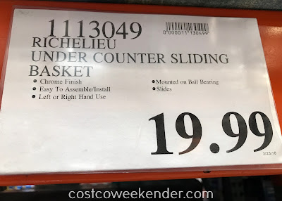 Deal for the Richelieu Sliding Pull-out Cabinet Organizer at Costco