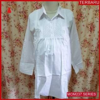 MOM237B17 Baju Atasan Hamil Putih Menyusui Bajuhamil Ibu Hamil