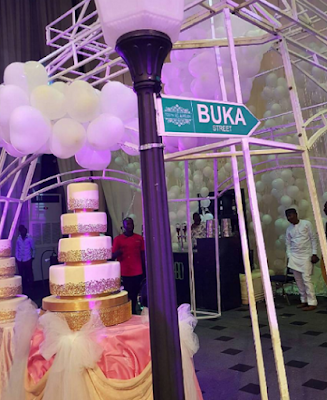 Tosyn Bucknor wedding cake