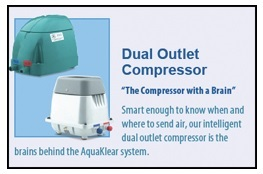 """""""The Compressor with a Brain"""" - AquaKlear's Dual Outlet Compressor"""