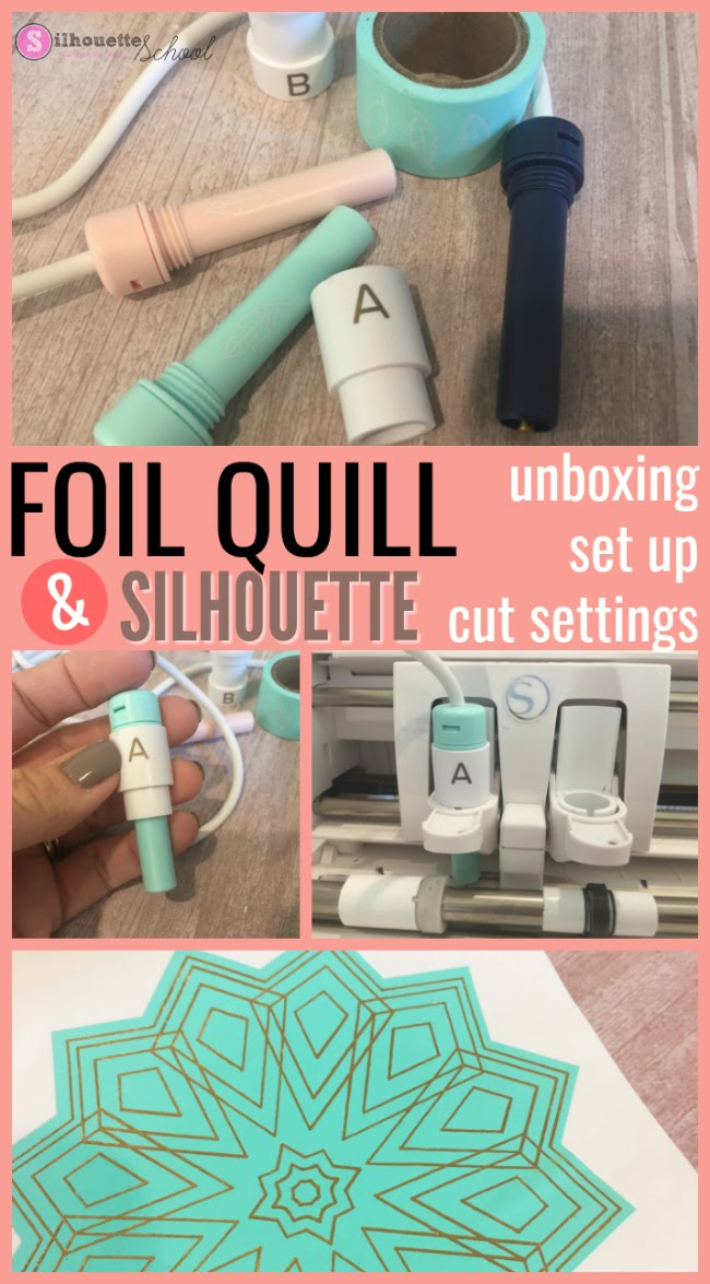 foil quil, foil quill silhouette, foil quill designs, Silhouette 101, Silhouette America Blog