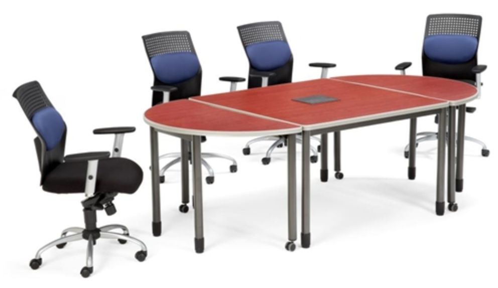 ofm 3 piece modular conference table. Black Bedroom Furniture Sets. Home Design Ideas