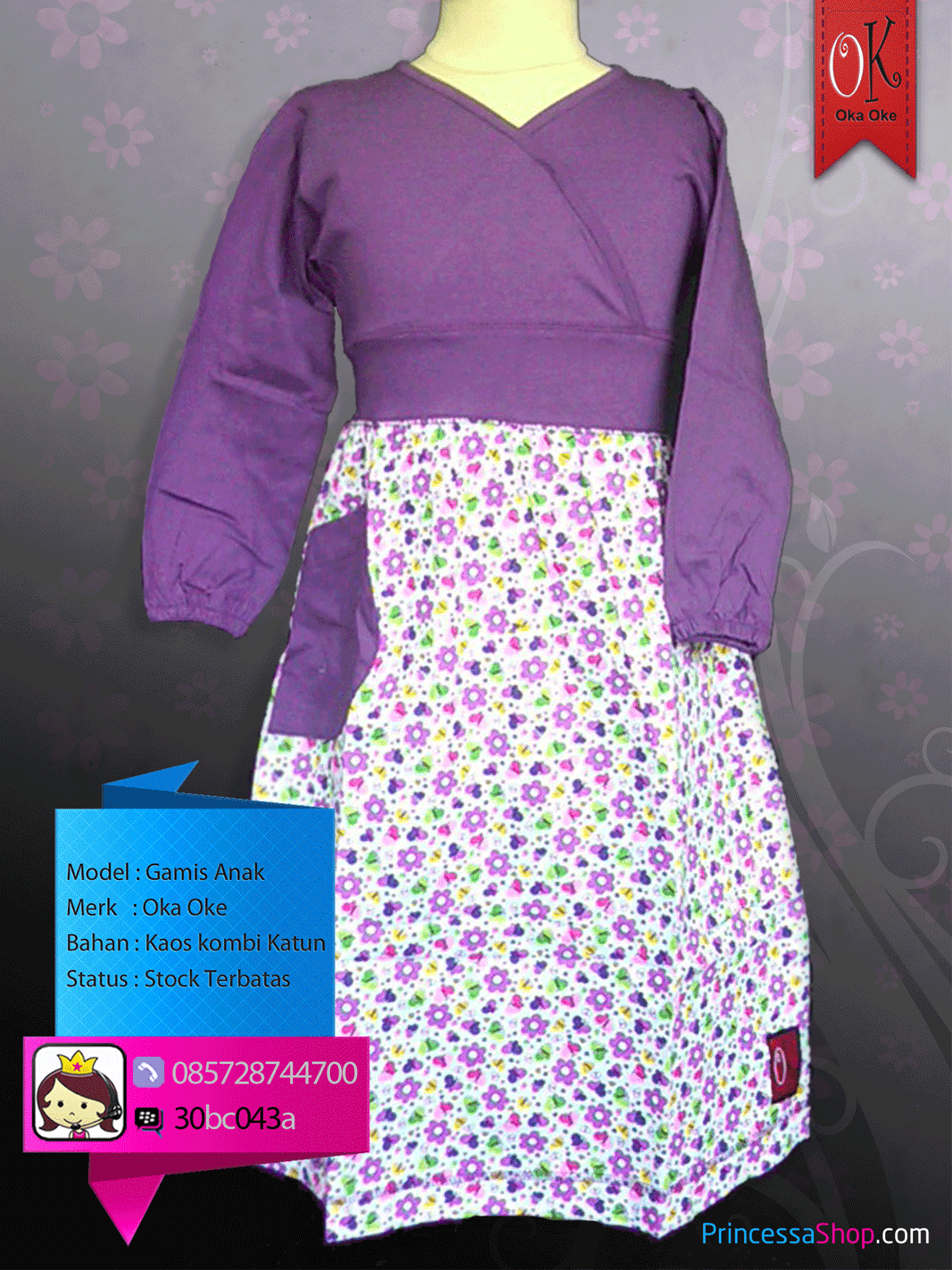 Baju Gamis Anak Perempuan Remaja Dan Balita Bahan Kaos