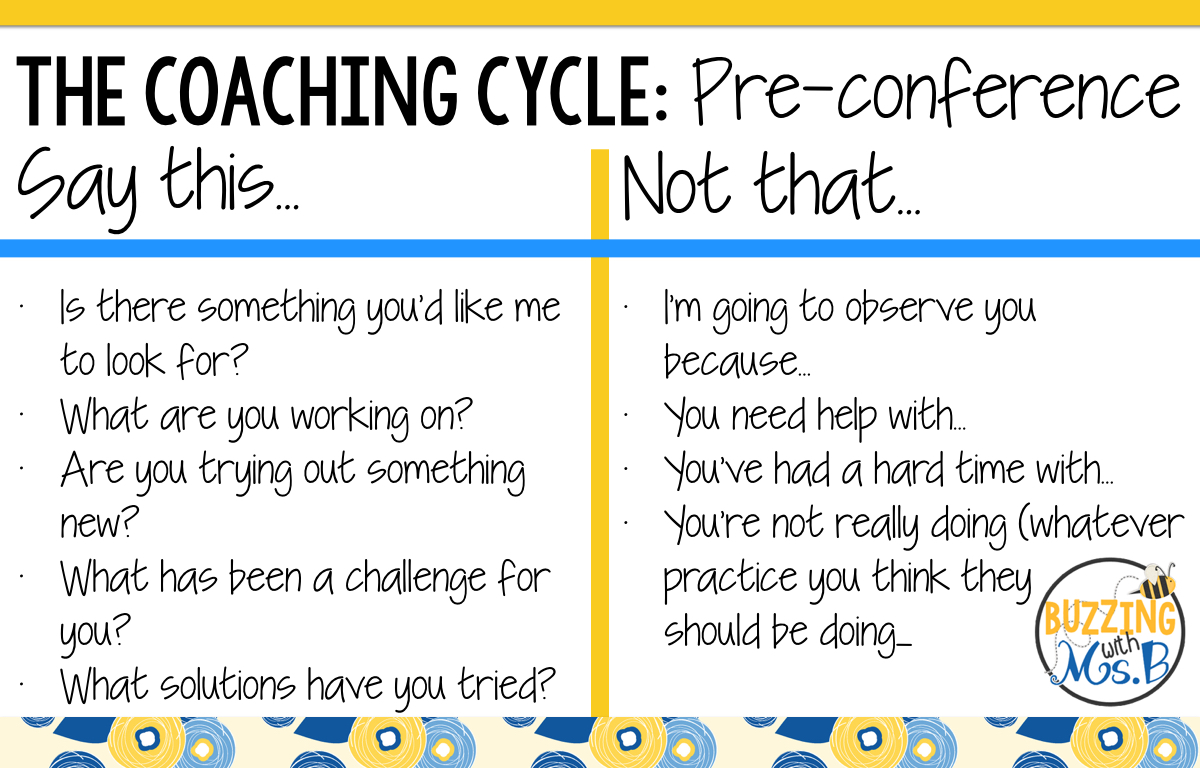 Buzzing With Ms B The Coaching Cycle Say This Not That Growing