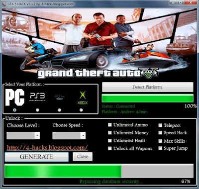 GTA 5 Hack v3.1.2 | 2015 | Pc | Ps3 | Ps4 | Xbox | No Survey | No