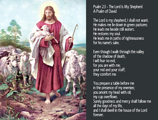 """The Lord Is My Good Shepherd"" - Bernhard Plockhorst - 1825 -1907 - Public Domain"