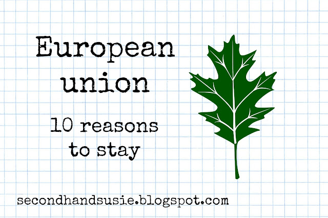 10 reasons to stay in the EU. #strongerin #EU secondhandsusie.blogspot.com