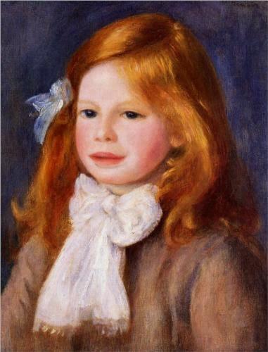 O retrato do pequeno Jean Renoir (1901) em uma das inúmeras pinturas do  pai. Renoir não gostava que cortassem seu lindo cabelo, fazendo com que o  garoto 6045ff2e9b