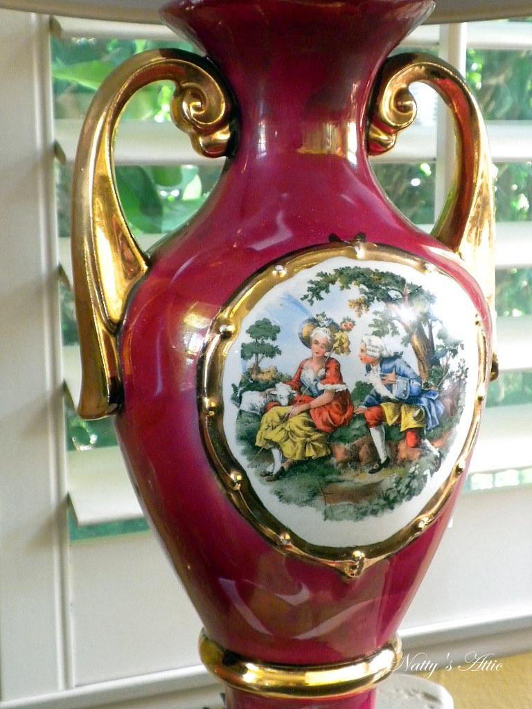Vintage George & Martha Washington Lamp