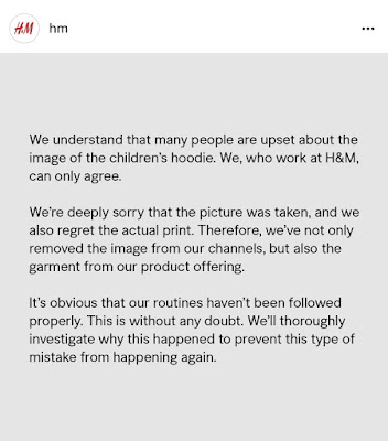 H&M'sapology on coolest monkey in the jungle incident