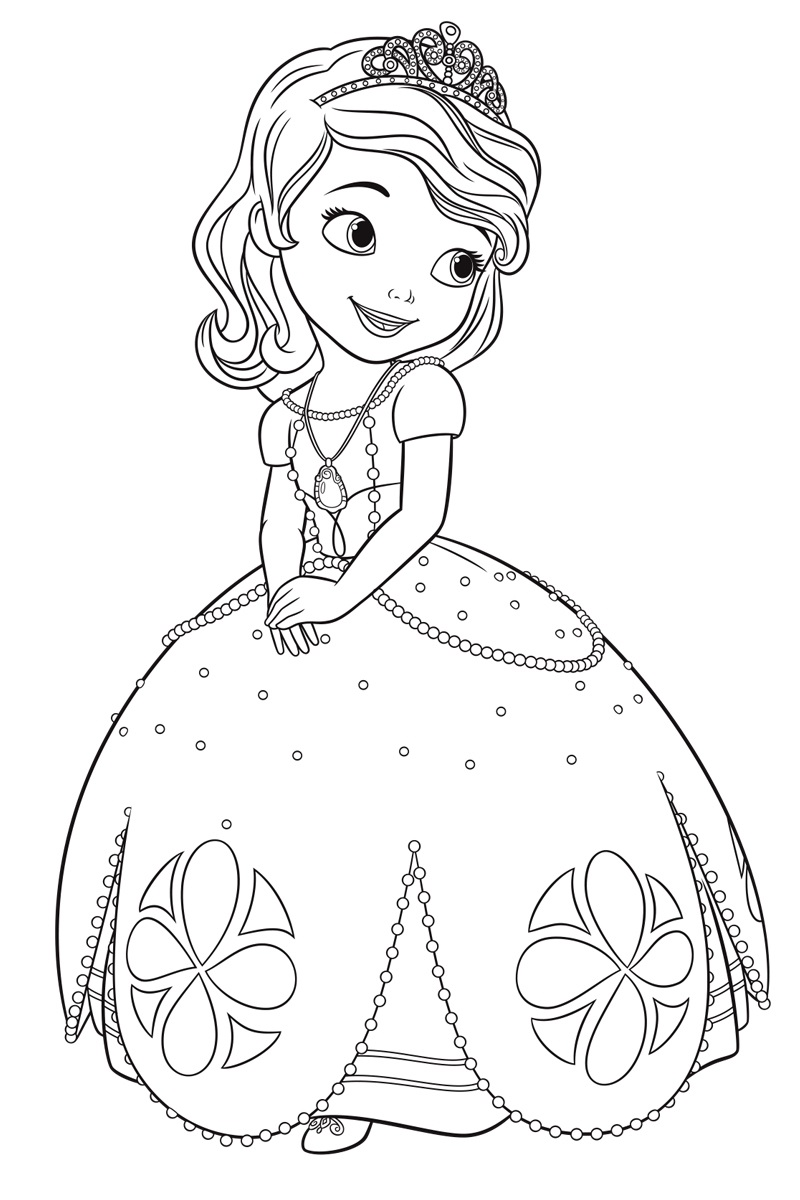 Princess ivy coloring page - Sofia The First Once Upon A Princess Coloring Pages
