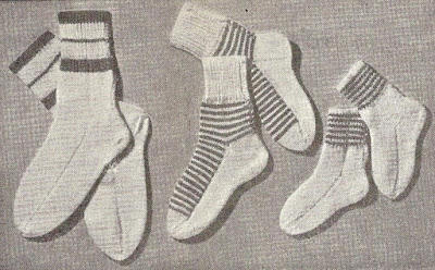 The Vintage Pattern Files: Free 1950s Knitting Pattern - Striped Children's Socks