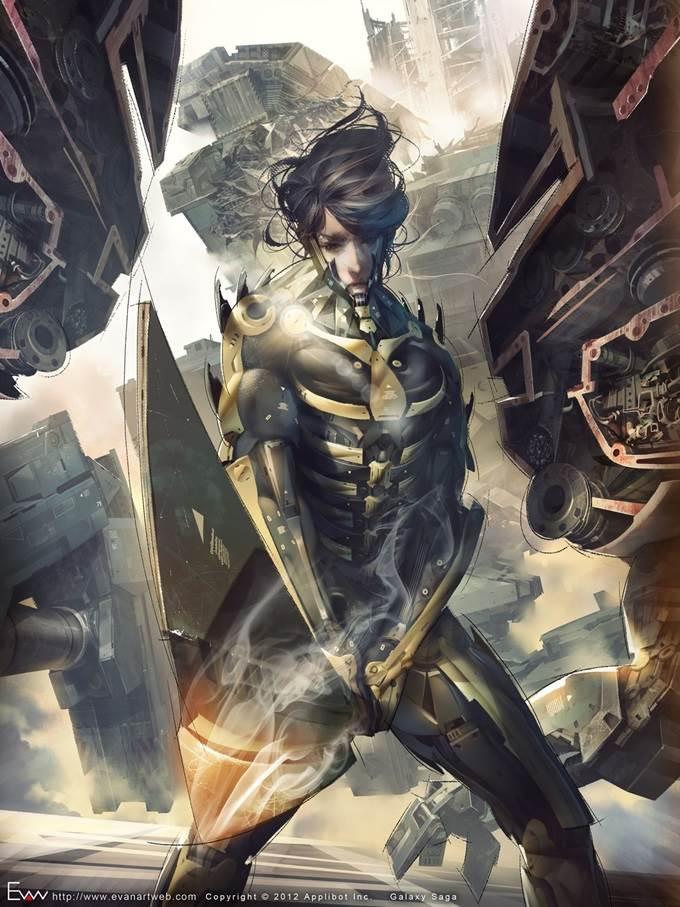 evan lee illustration warrior advance