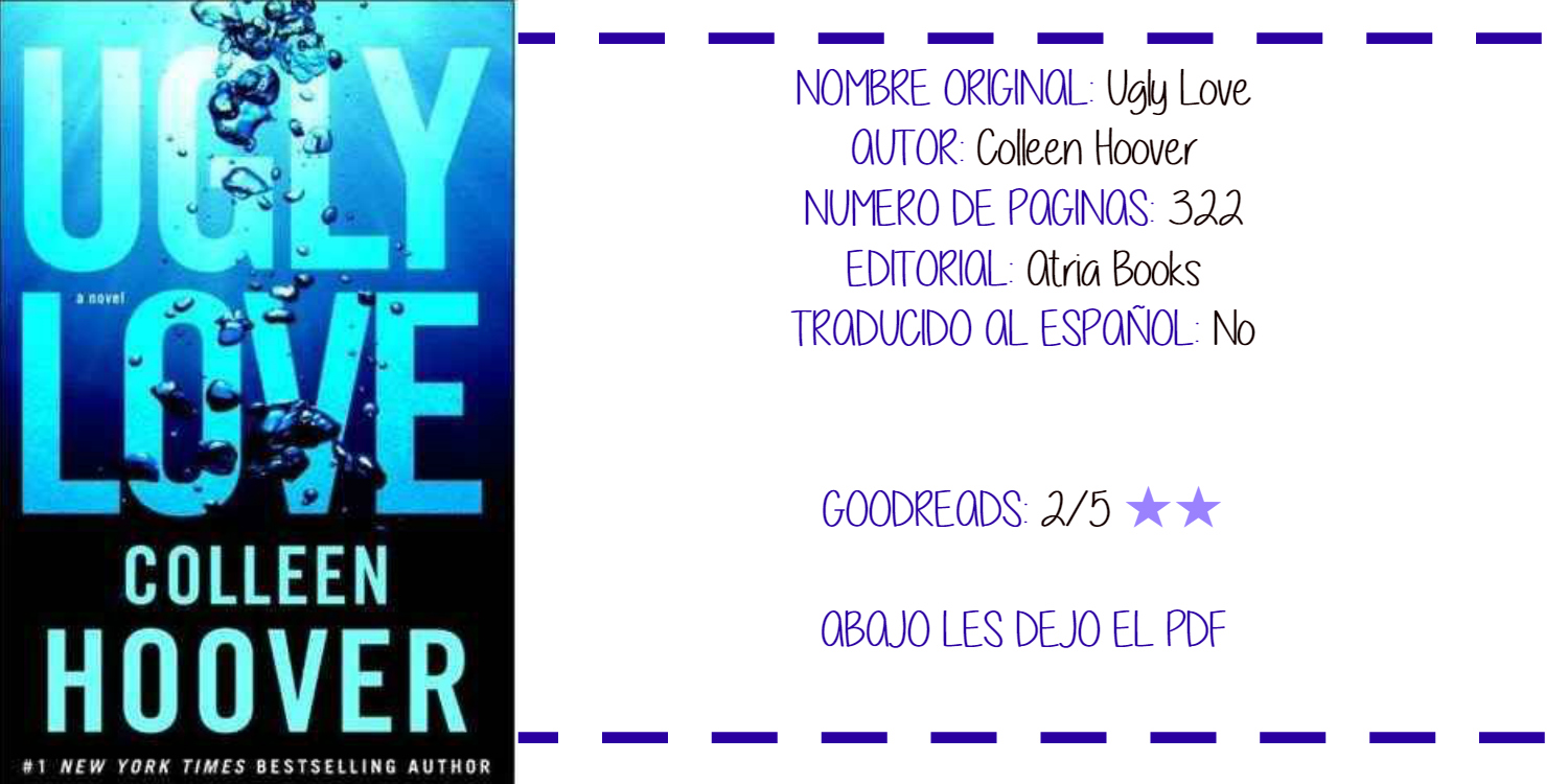 Ugly Love Colleen Hoover Pdf English