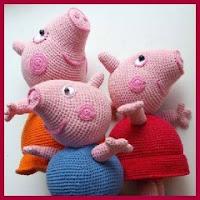 Familia Peppa Pig amigurumi