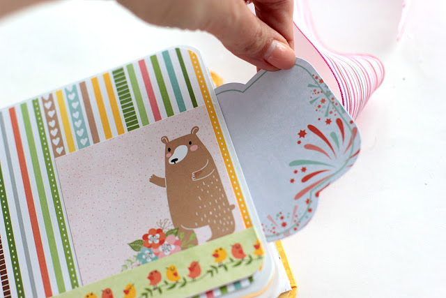 Family Mini Album by Elena Olinevich using BoBunny Weelend Adventures Collection