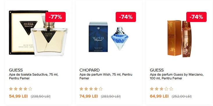 Oferte parfumuri dama -50% reducere de sarbatori pe elefant.ro
