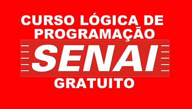Curso 100% online e gratuito de Lógica de Programação do SENAI.