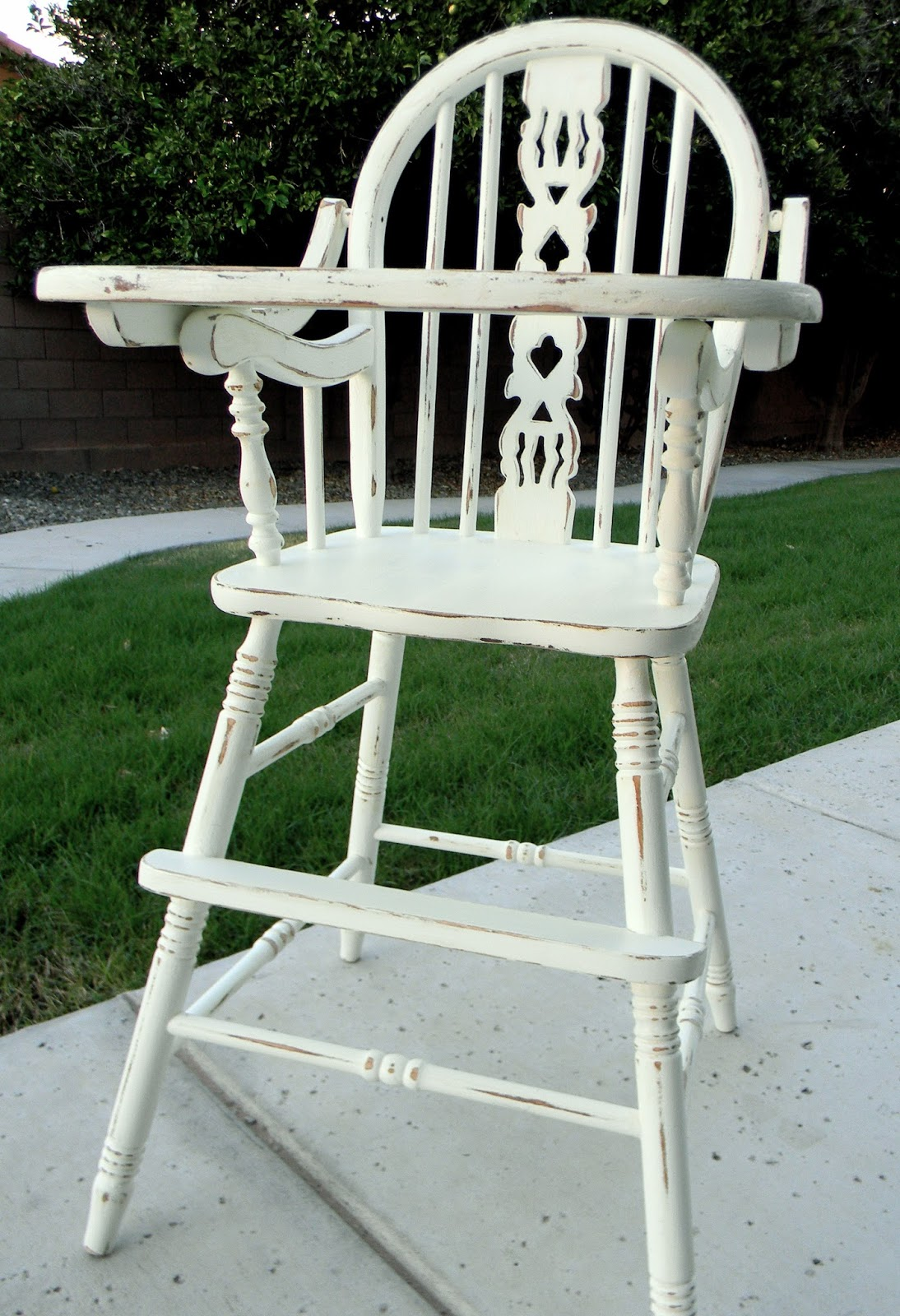 Antique High Chairs Chair Lifts Medicare Little Bit Of Paint Refinished