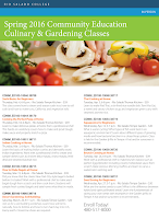 flier listing all spring cooking classes.