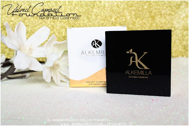 applicazioni velvet compact foundation, fondotinta compatto in crema alkemilla