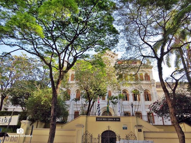 Vista da fachada do Colégio Nossa Senhora de Sion - Higienópolis - São Paulo