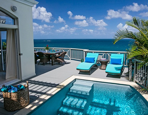 Villa Blue on St. Thomas with Blue Ocean Decor