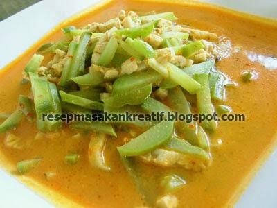 Cara Membuat Sayur Labu Siam Kuah Santan RESEP SAYUR LABU SIAM TEMPE KUAH SANTAN