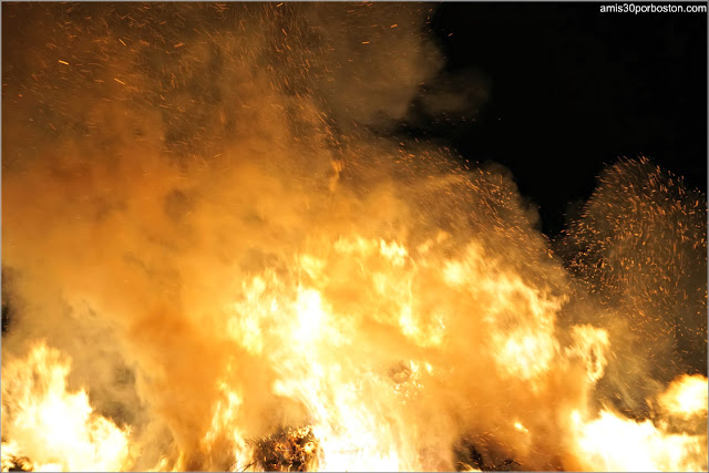 Pavesas en la Old Newbury Bonfire