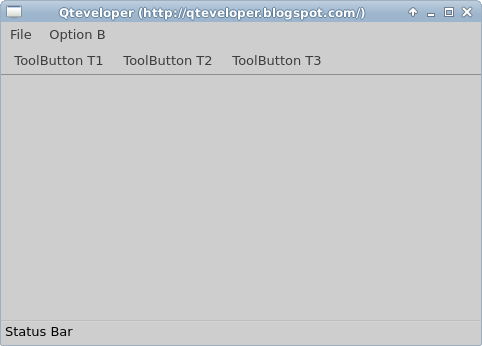 Qteveloper: QtQuick Controls: ApplicationWindow, MenuBar, ToolBar
