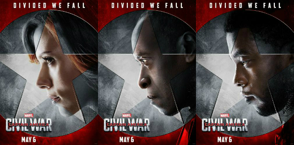 "New posters for ""Captain America: Civil War."