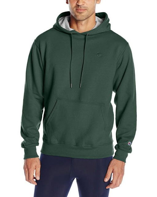 Champion S0889 Mens Fleece Pullover Hoodie - Granite Heather - L