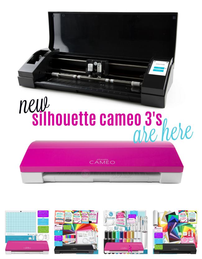 pink cameo 3, black cameo 3, silhouette cameo pink, color cameos