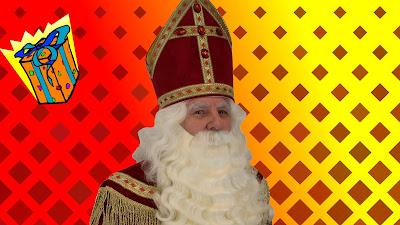 Rood gele Sinterklaas wallpaper.
