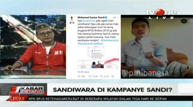 """Di tvOne, Subkhan Tunjukan Bukti Twit Tuduhan """"Ngaku-ngaku Petani"""", Guntur Romli Masih Berkilah"""