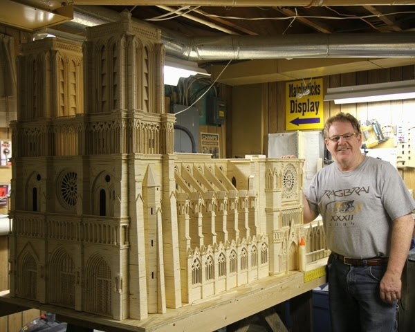 12-Notre-Dame-Cathedral-Patrick-Acton-The-Matchmaker-Matchsticks Sculptures-www-designstack-co